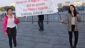 Sözcü Gazetesi davası öncesi sessiz protesto!