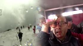 BBC ekibi yanardağ patlamasına böyle yakalandı
