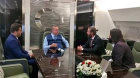 'Diriliş Ertuğrul' ekibi de Erdoğan'ın uçağına bindi!