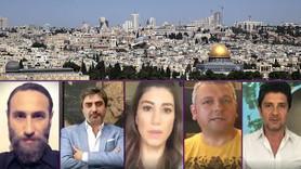 """Sanat ve medya dünyasından anlamlı mesaj: """"Kudüs için ayaktayım, çünkü insanım"""""""