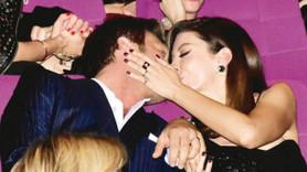 Başak Dizer'den Kıvanç Tatlıtuğ'a öpücüklü kutlama!