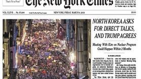 İstanbul'daki Feminist Gece Yürüyüşü, New York Times'ın manşetinde