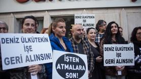 TGS'den Cumhuriyet gazetesi önünde protesto!