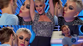 Katy Perry yarışmacıyı öptü, sosyal medya sallandı!