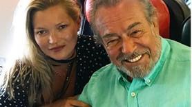 Güneri Cıvaoğlu'nun şanslı günü! Kate Moss ile yan yana uçtu!
