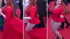Cannes Film Festivali'ne damga vuran olay! Kırmızı halıda iç çamaşırı ile kaldı!