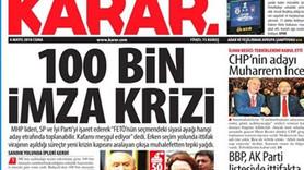 Medyaradar'dan gece bombası! Karar Gazetesi kapanıyor mu?