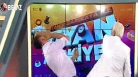 Beyaz TV sunucusu canlı yayında dayak yedi!