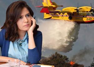 Kübra Par'dan yangın söndürme uçağı tepkisi!
