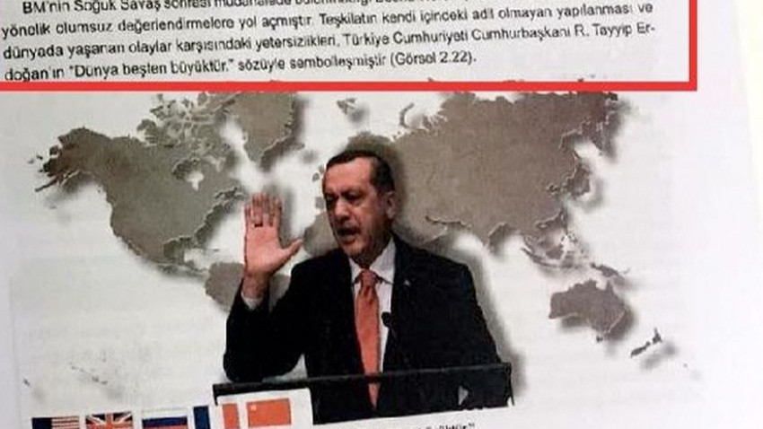 Erdoğan'ın 'Dünya 5'ten büyüktür' sözü ders kitabına girdi