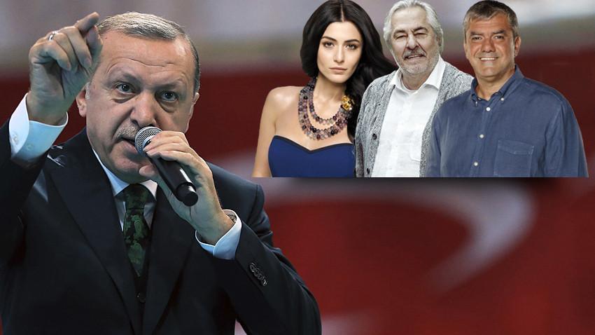 Erdoğan'dan Deniz Çakır, Yılmaz Özdil ve Rutkay Aziz'e sert tepki: Faşistliğin en dik alasıdır!