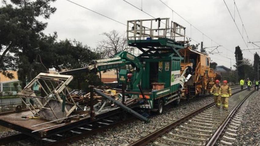 İstanbul'da test sürüşü yapan iki tren çarpıştı