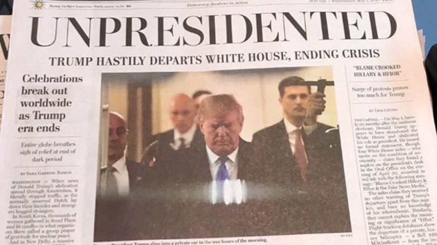 Trump istifa edip Kırım'a kaçtı!