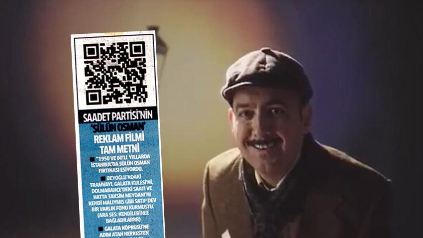 Sülün Osman reklamı için Milli Gazete'den QR kodlu destek!