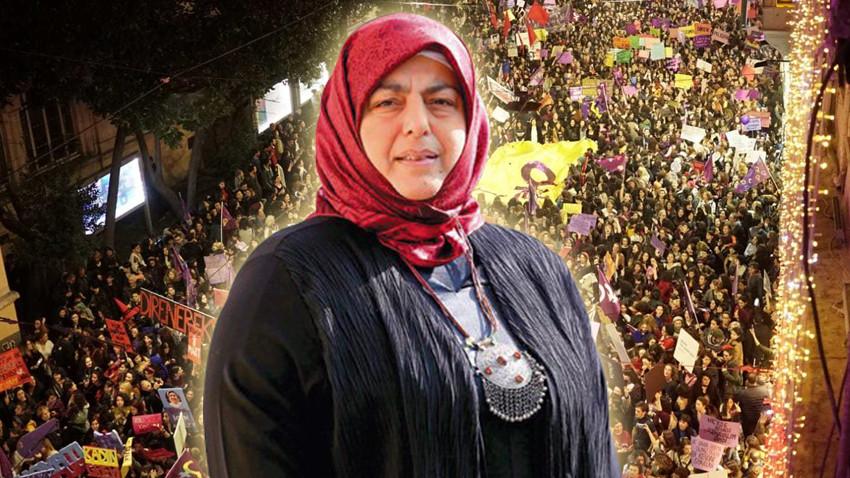 Sibel Eraslan'dan 8 Mart yürüyüşüne tepki: Bu nasıl bir pornografi?