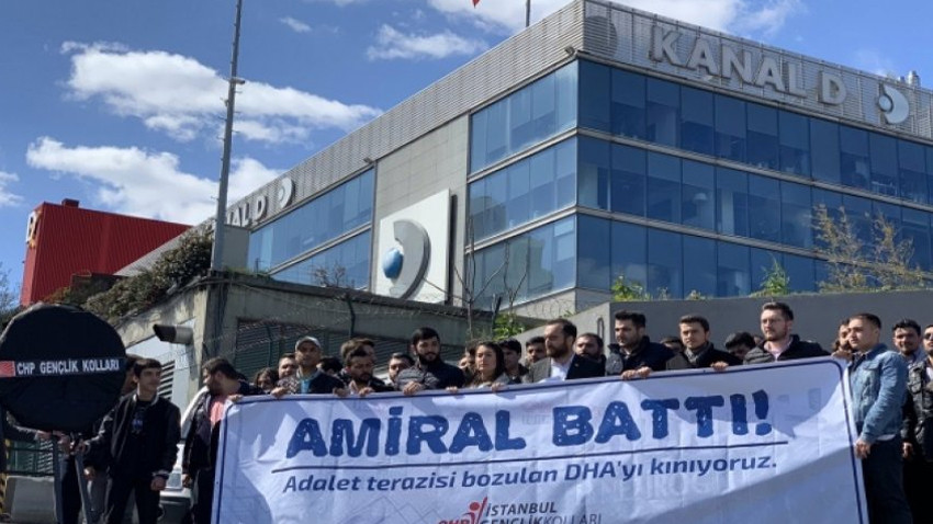 CHP'den Demirören Medya Grubu'na protesto: Amiral battı!
