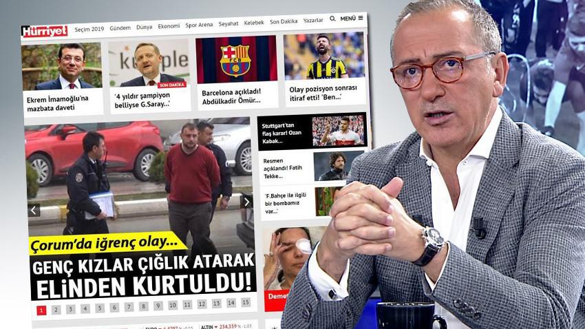 """Fatih Altaylı'dan Hürriyet'e mazbata tepkisi! """"Gazete misiniz, deve kuşu mu?"""""""