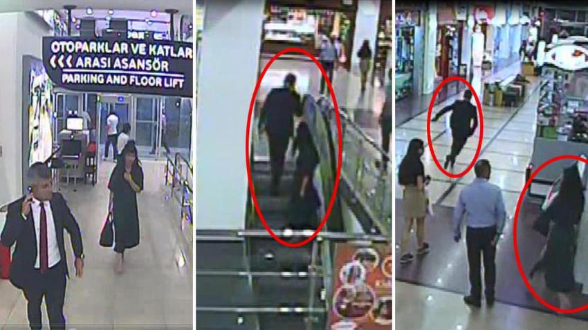Skandal olay! Yürüyen merdivende etek altı görüntülerini çekti
