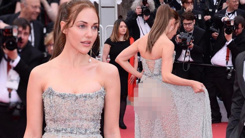 Meryem Uzerli'nin Cannes'da giydiği elbise ortalığı karıştırdı!