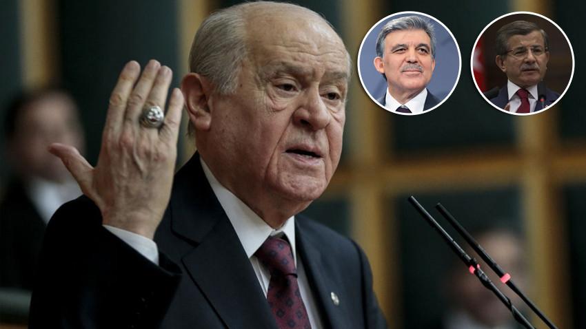 Bahçeli'den Davutoğlu ve Gül'e çok sert yeni parti tepkisi! İkaz ediyorum...