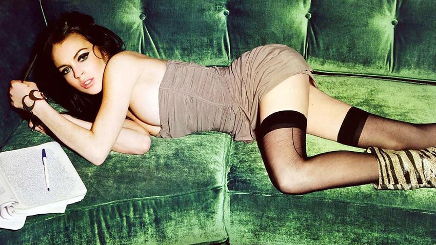 Lindsay Lohan yine çok cesur!
