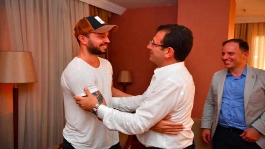 100 bin lira bağış yapmıştı! Murat Boz İBB başkanı İmamoğlu'yla buluştu!