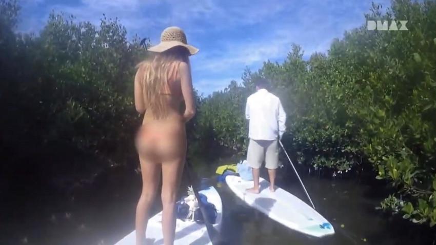 DMAX kanalında bikinili kadınlara tuhaf sansür!