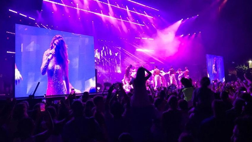 Jennifer Lopez Antalya'da konser verdi; Kim Kardashian gelmedi