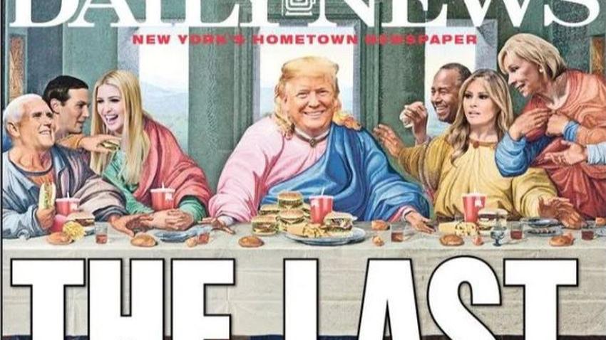 Trump'a mesih göndermesi! Bu kapak çok tartışılacak