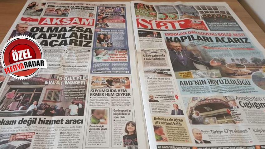Star ve Akşam Gazeteleri birbirine girdi!