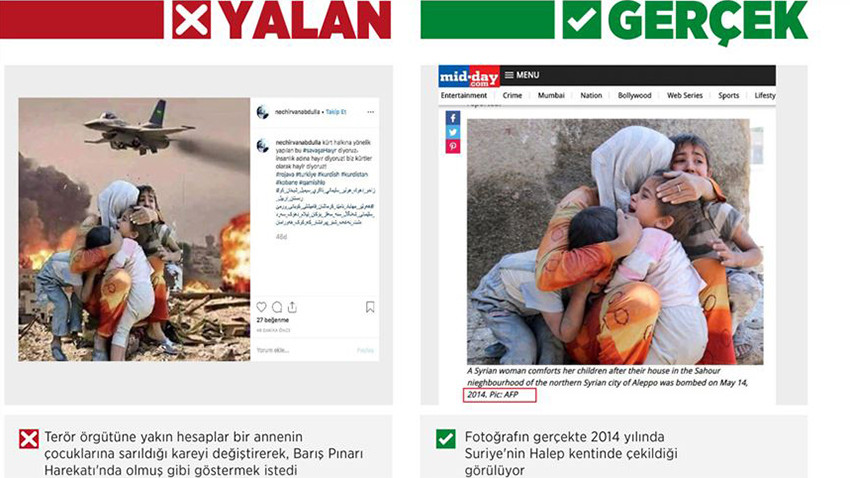 Terör örgütü yandaşlarından 'Barış Pınarı' manipülasyonu