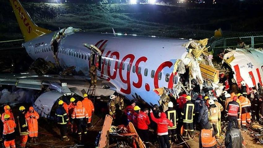 Parçalanan uçağın pilotları hakkında gözaltı kararı
