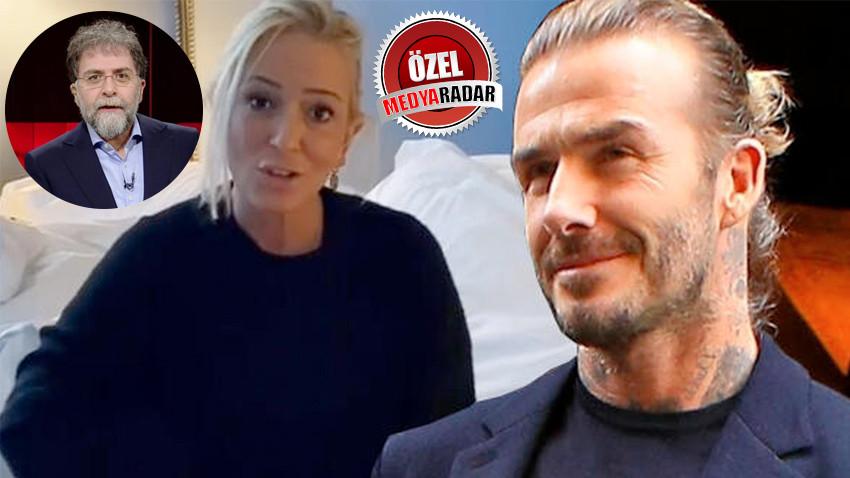 Saba Tümer'den Ahmet Hakan'a Beckham tepkisi! 'Bir tık uğruna...'