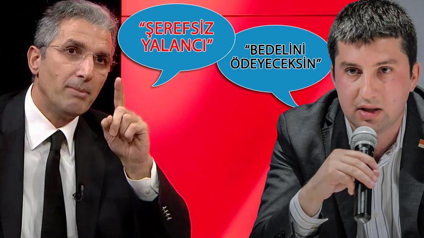 """Nedim Şener ile CHP'li Yurter Özcan birbirine girdi! """"Bedelini ödeyeceksin"""" """"Bak Şerefsiz"""""""