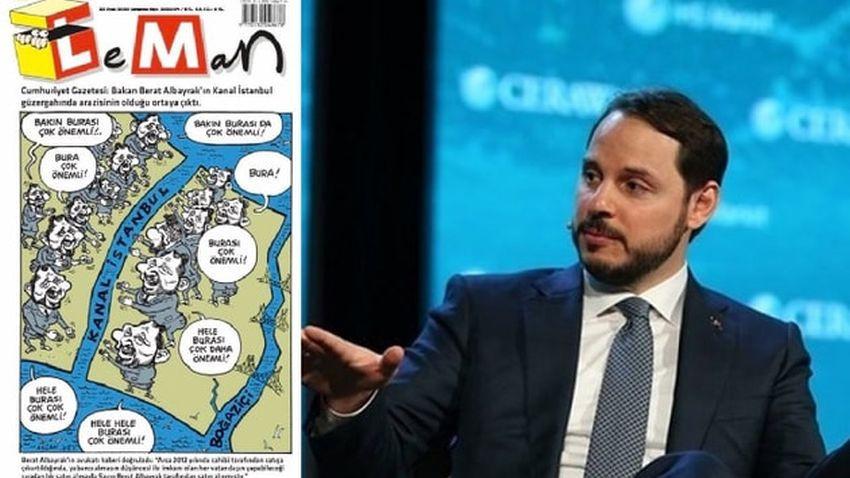 Leman'ın Berat Albayrak karikatürüne erişim yasağı!