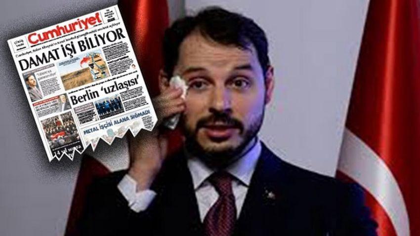 Berat Albayrak'ın arazisini haber yapan Cumhuriyet muhabirine soruşturma