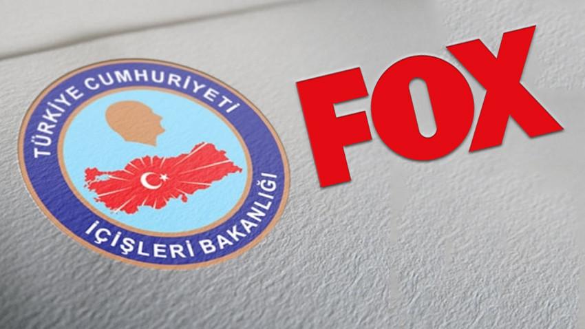 İçişleri Bakanlığı'ndan FOX'a çok sert tepki! 'Türkçe anlamıyorsanız, İngilizce yazalım'