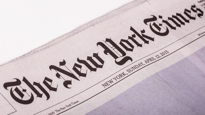 New York Times köşe yazısında sosyal mesafe uyguladı!