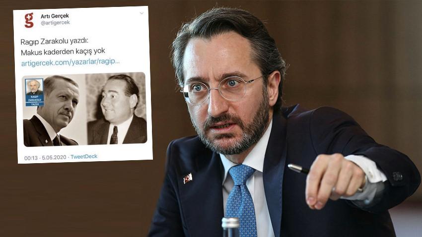 Fahrettin Altun'dan o köşe yazarına sert tepki! Erdoğan ile ilgili yazısı olay oldu!