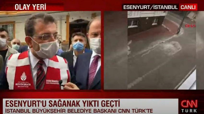 CNN Türk muhabirinin İmamoğlu'nu kızdıran sorusu
