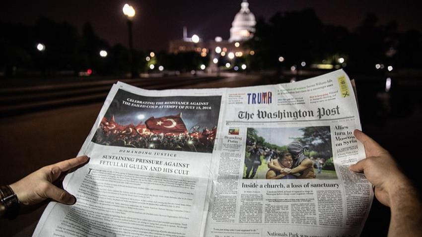 Washington Post'ta 15 Temmuz ilanı!