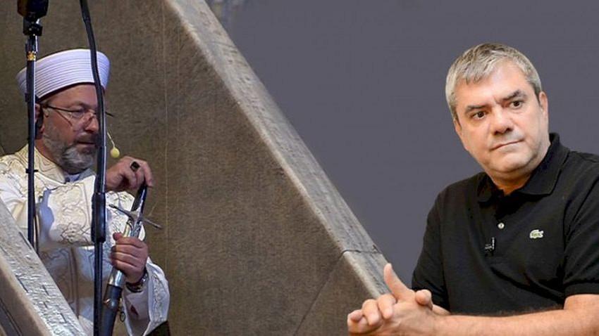 Ali Erbaş'ın 'lanetli' konuşmasına Yılmaz Özdil'den tepki