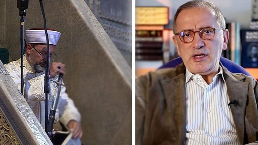 """Fatih Altaylı'dan Ali Erbaş'a 'Atatürk'e lanet' tepkisi: """"Devletin parasını çalanlar..."""""""