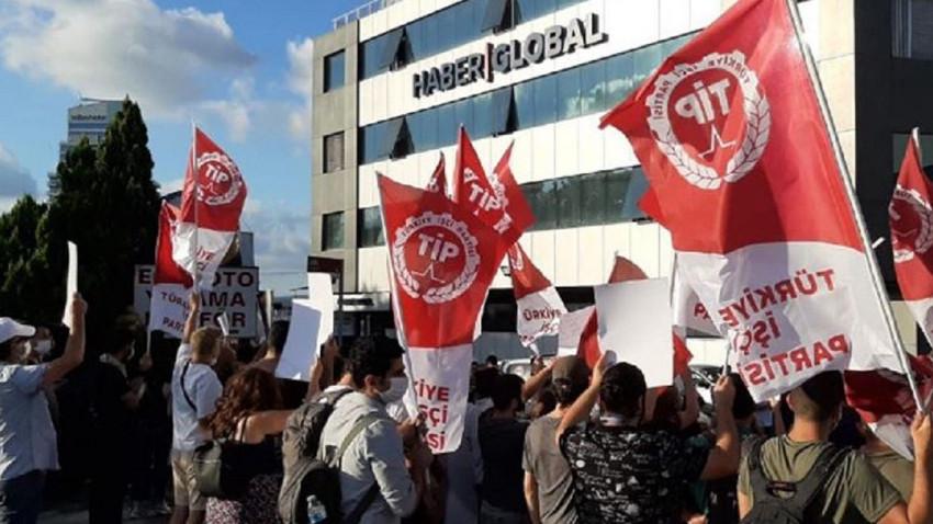 Haber Global önünde 'Haluk Kırcı' protestosu