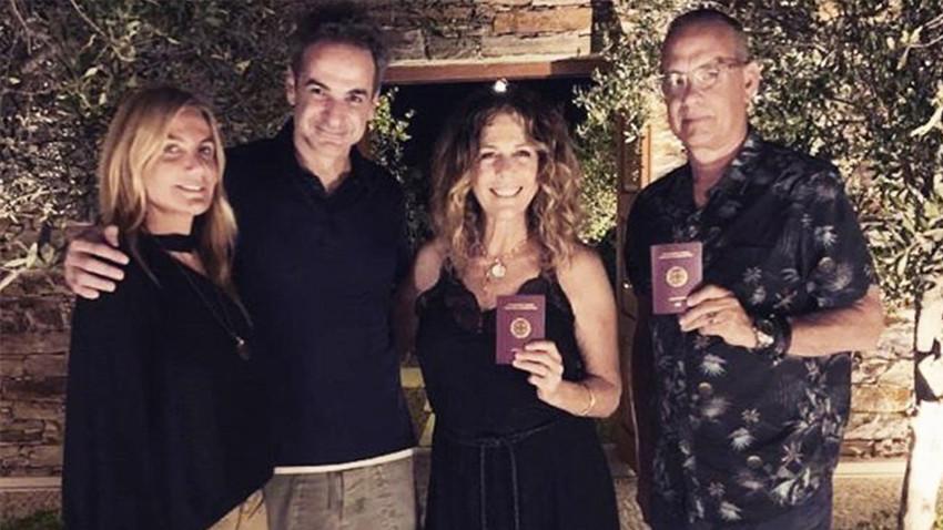 Tom Hanks ve Rita Wilson, Yunanistan vatandaşı oldu