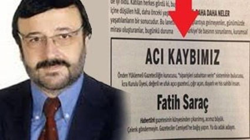 Taraf Fatih Saraç'la böyle dalga geçti! Acı kaybımız!