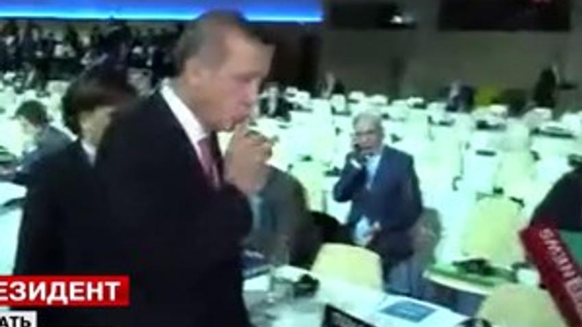 Rus muhabir Erdoğan'a o soruyu sorunca ortalık böyle karıştı!