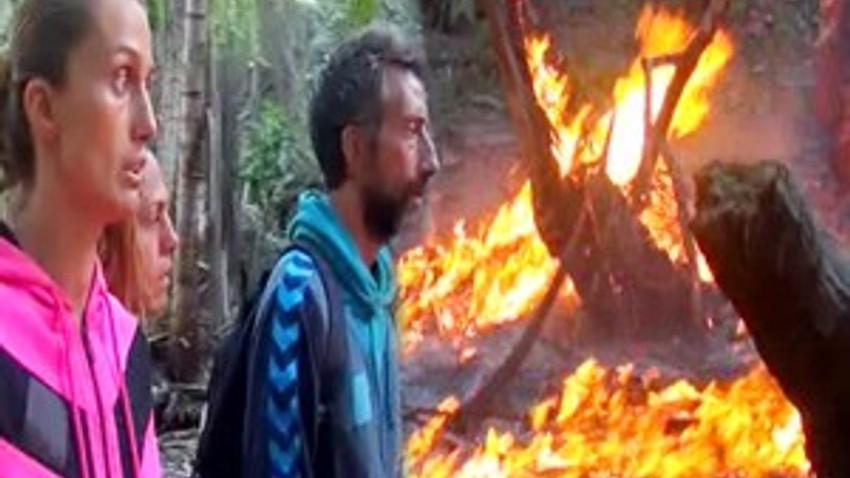 Survivor'da korku dolu anlar: Ünlüler adasında yangın çıktı!