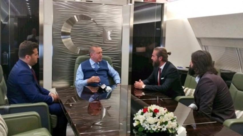 Erdoğan'ın Kuveyt yolculuğunda sürpriz isimler: Diriliş Ertuğrul ekibi eşlik etti!