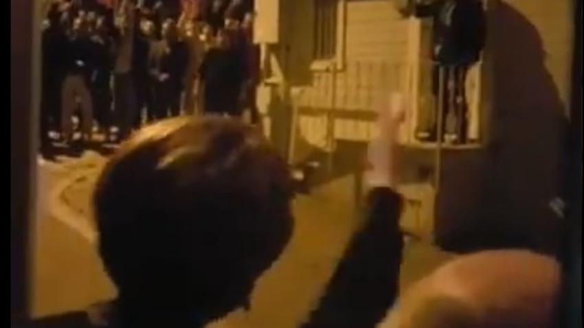 """Meral Akşener'in evinin önünde gergin anlar! """"Erkekseniz gelin vurun, yuh be"""""""